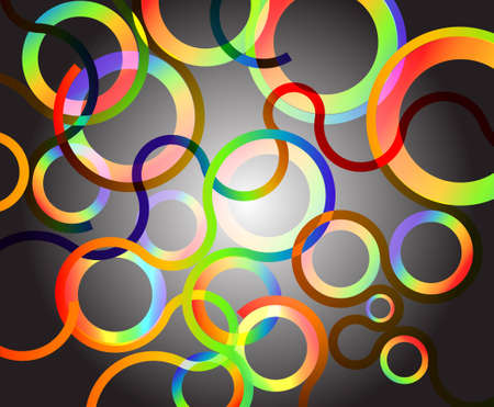 Rainbow Circles background vector illustration Stock Vector - 12860195