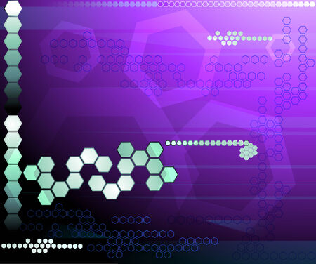Hexagon violet futuristic background Illustration