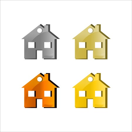 Home icon. Vector illustration house