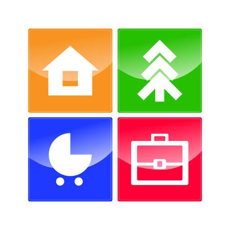 Web Navigation Icons vector Stock Vector - 27440569