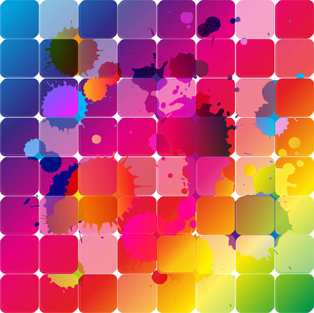 poured: Rainbow forms color vector illustration - Stock Illustration