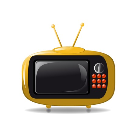 Cute tv animation vector illustration Illustration