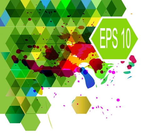 Abstract Hexagonal multicolor vector illustration