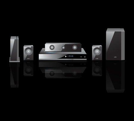 acoustics theater components  audio,  Remote Control, Speakers, DVS Vector