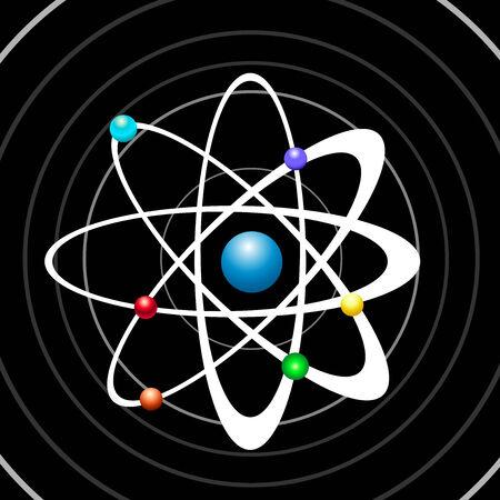 Atom illustration vector