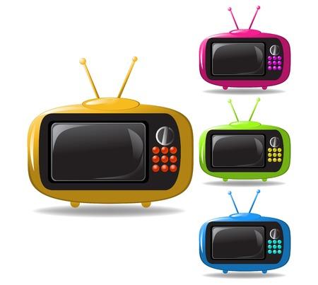 some TV sets animation illustration