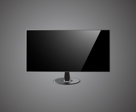 TV Screen hd Isolated On grey Background