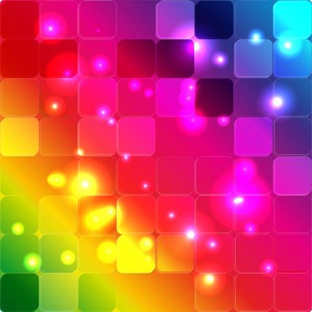 beautiful rainbow forms color Illustration