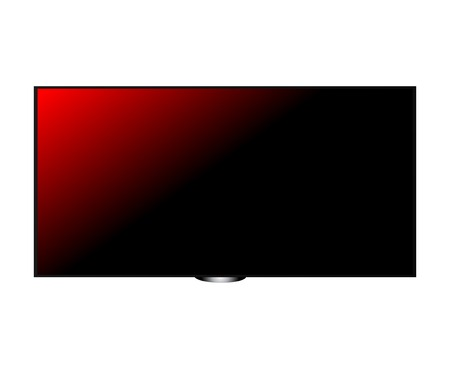 TV screen Plasma hd red