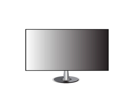 monitor tv screen hd isolated Illustration