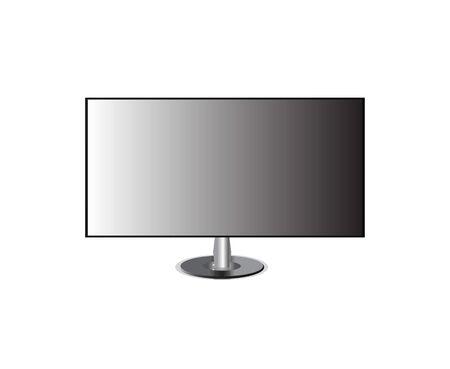 monitor tv screen hd isolated Illustration