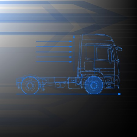 truck outline drawing