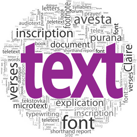 text concept word tag cloud isolated Illustration