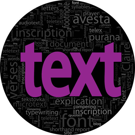 text concept black backgroung word tag cloud isolated