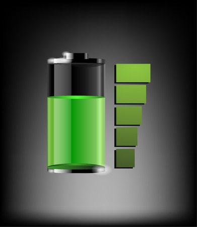 Vector battery icon element glassy