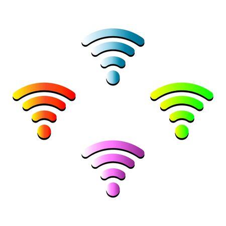 vector wireless hotspot internet signal symbol icon Illustration