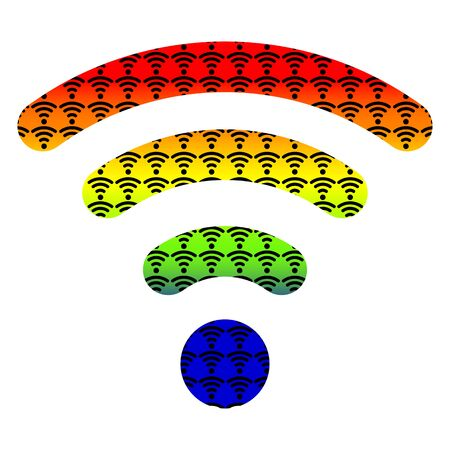 point chaud: wifi hotspot sans fil symbole de signal Internet ic�ne