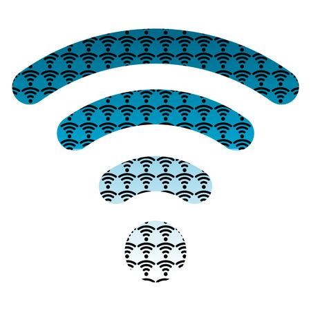 vector  wireless hotspot internet signal symbol icon blue