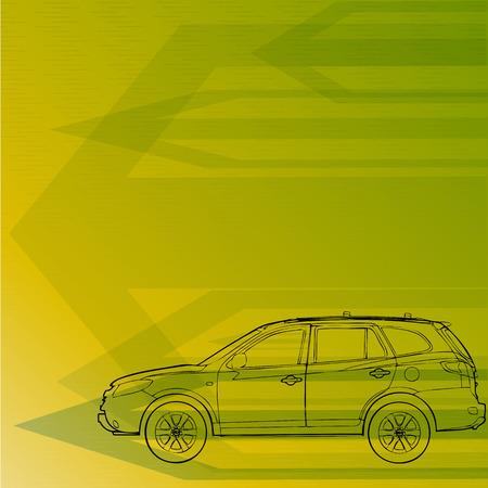avto drawing concept forward vector line
