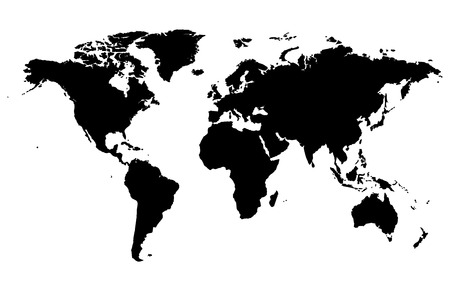 silhouette World MapIllustration vector illustration