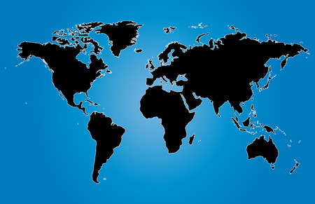 blue world maps vector illustration with country Illustration