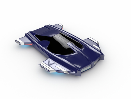Concept Hover car H3 Car Technology high quality 3d redered image
