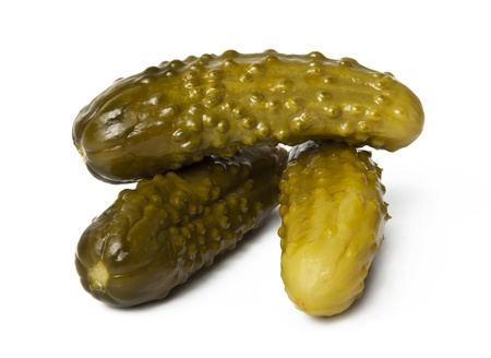 Gherkins on a white background Stock Photo