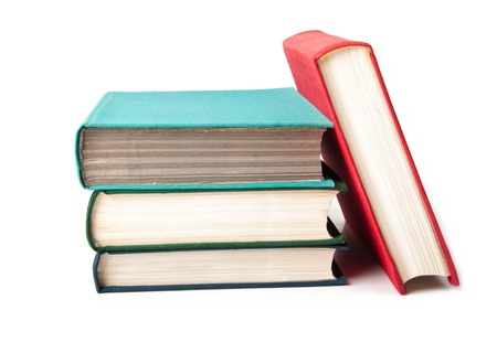 Old books against a white background Stock Photo - 14117396