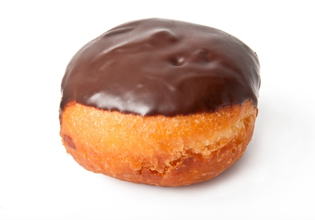 chocolate donut isolated on a white background Stock Photo
