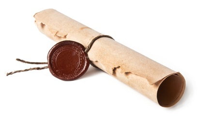 old rolled paper