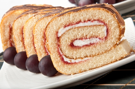 Swiss roll with jam Stock Photo - 14893647