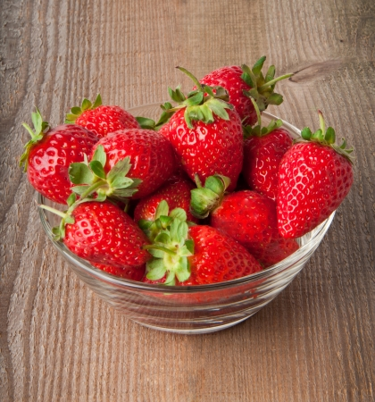 Appetizing strawberry in the bowl  photo