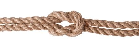 ship rope isolated on white background photo