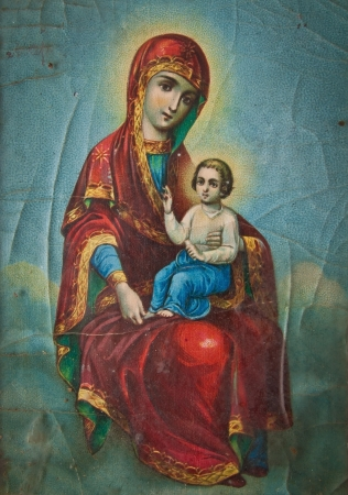 Orthodox Icon of the Mother of God Stock Photo