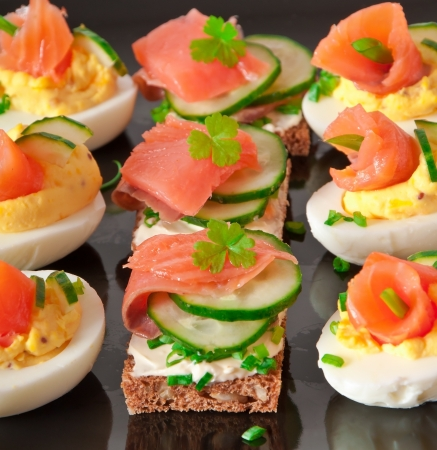 appetizer with salmon photo