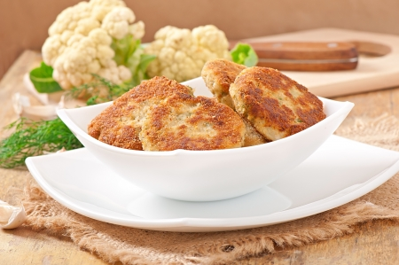 cutlets cauliflower with dill and garlic Stock Photo