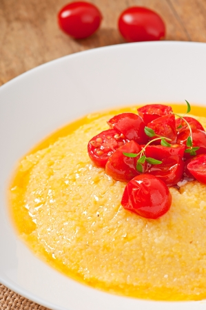 Polenta - Italian traditional food photo