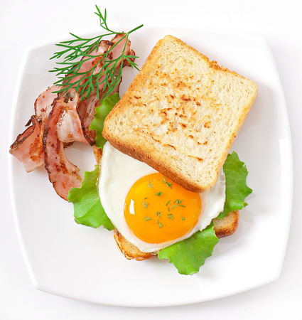 breakfast with bread Imagens