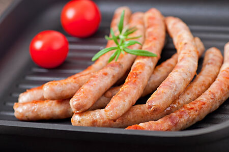grilled sausages photo