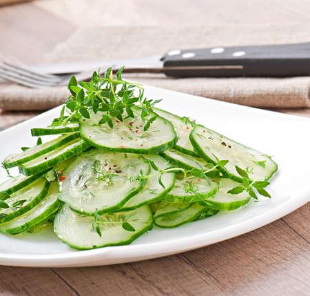 Fresh salad of cucumbers Stock Photo - 27366031