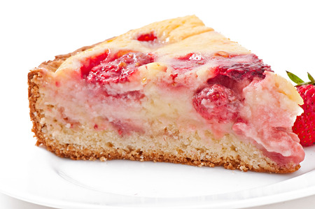 French pie  quiche  with strawberries photo