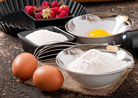 baking ingredients: Baking ingredients Stock Photo