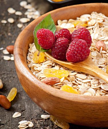 Healthy breakfast - oatmeal and berries photo