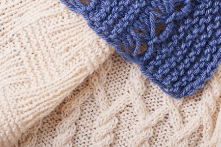 Knitted background, texture photo