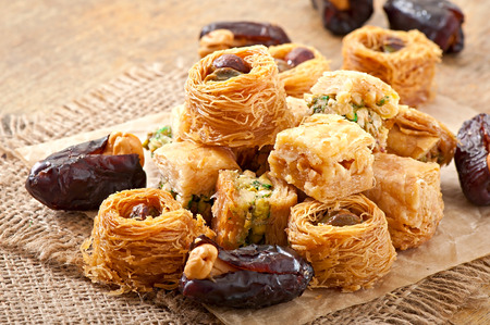 turkish dessert: Eastern sweets Stock Photo