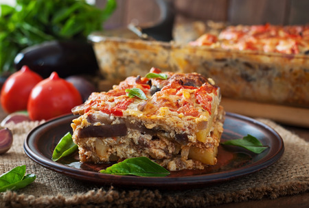 balkan: Moussaka - a traditional Greek dish