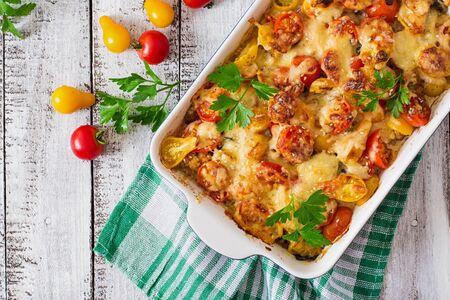 ベジタリアン野菜キャセロール