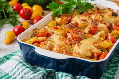 casserole: Vegetarian Vegetable casserole Stock Photo