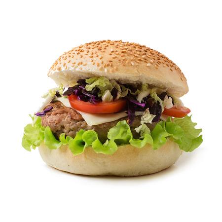 repollo: sándwich de hamburguesa con jugosas hamburguesas, queso y mezcla de col