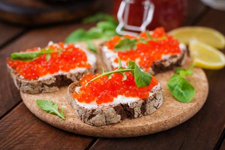 elite: Sandwich with red caviar
